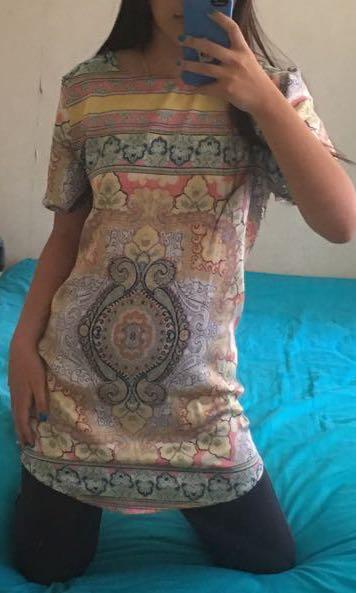 Mini patterned dress