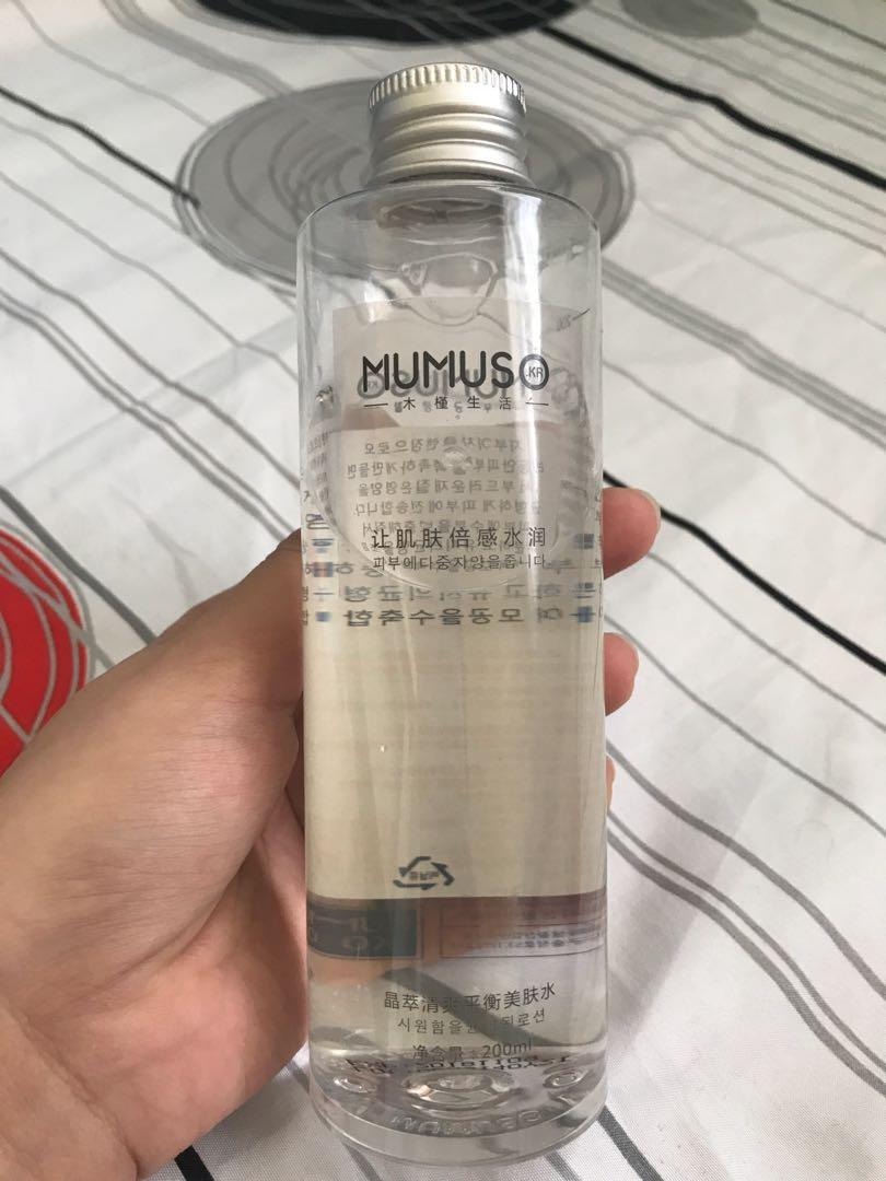 Mumuso balancing water