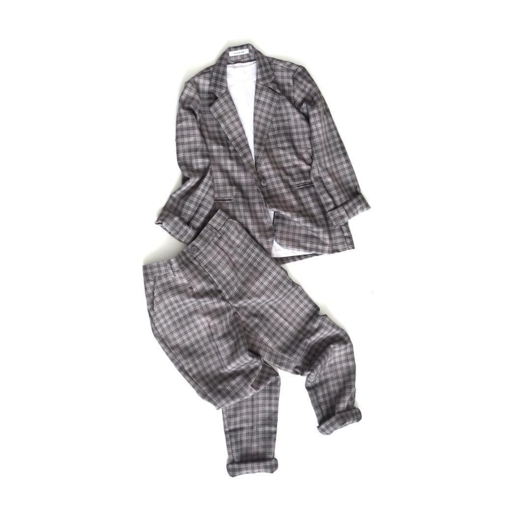 New ThenBlank Checked Set Blazer & Pants