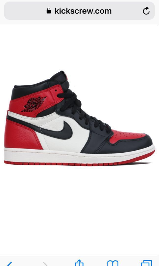 aca3fb065cc Nike Air Jordan 1 Retro High OG Bred Toe 1 2 3 4 5 6 7 8 9 0 kobe ...