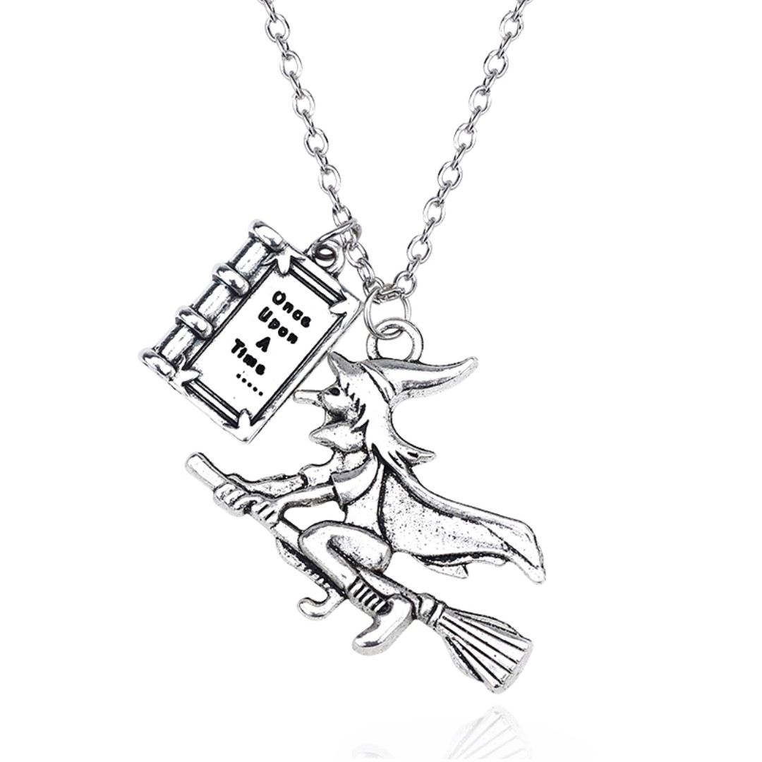 Once upon a time witch pendant necklace fairy tale 1 piece photo photo photo photo photo aloadofball Image collections