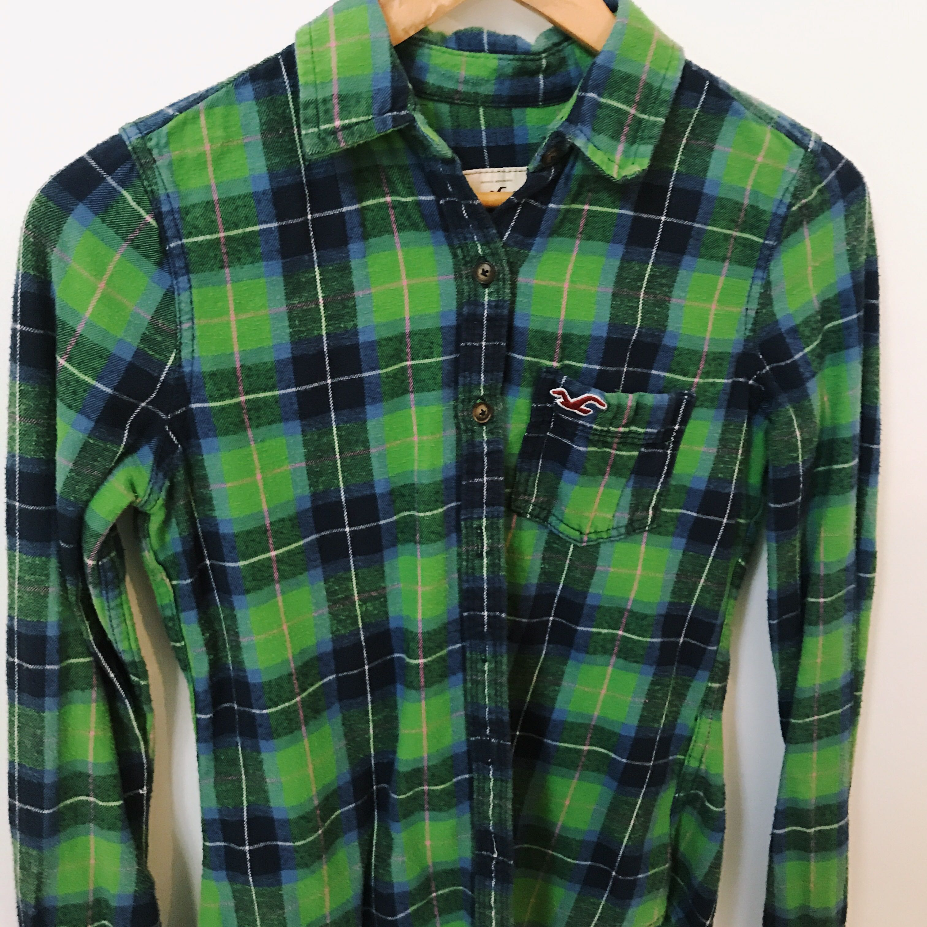 Plaid Button-Up Shirt