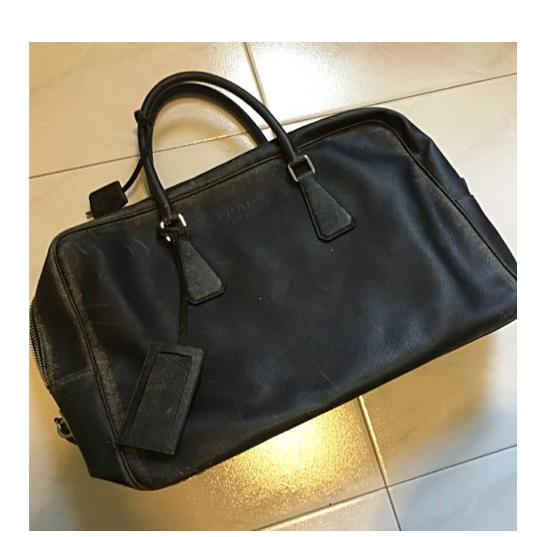 2ec2874ef5c4 Prada Men Genuine Leather Bag, Men's Fashion, Bags & Wallets on ...