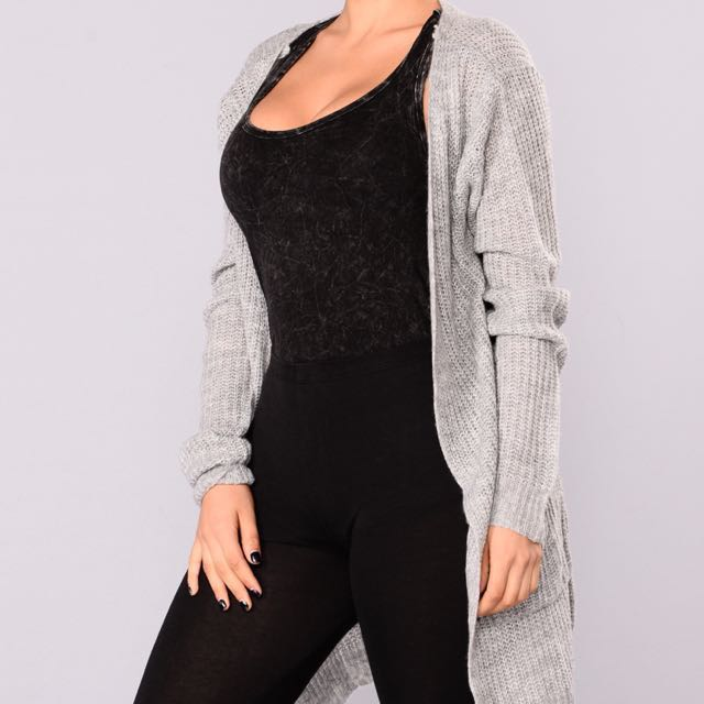 *PRICE DROP* Fashion Nova Grey Knit Cardigan
