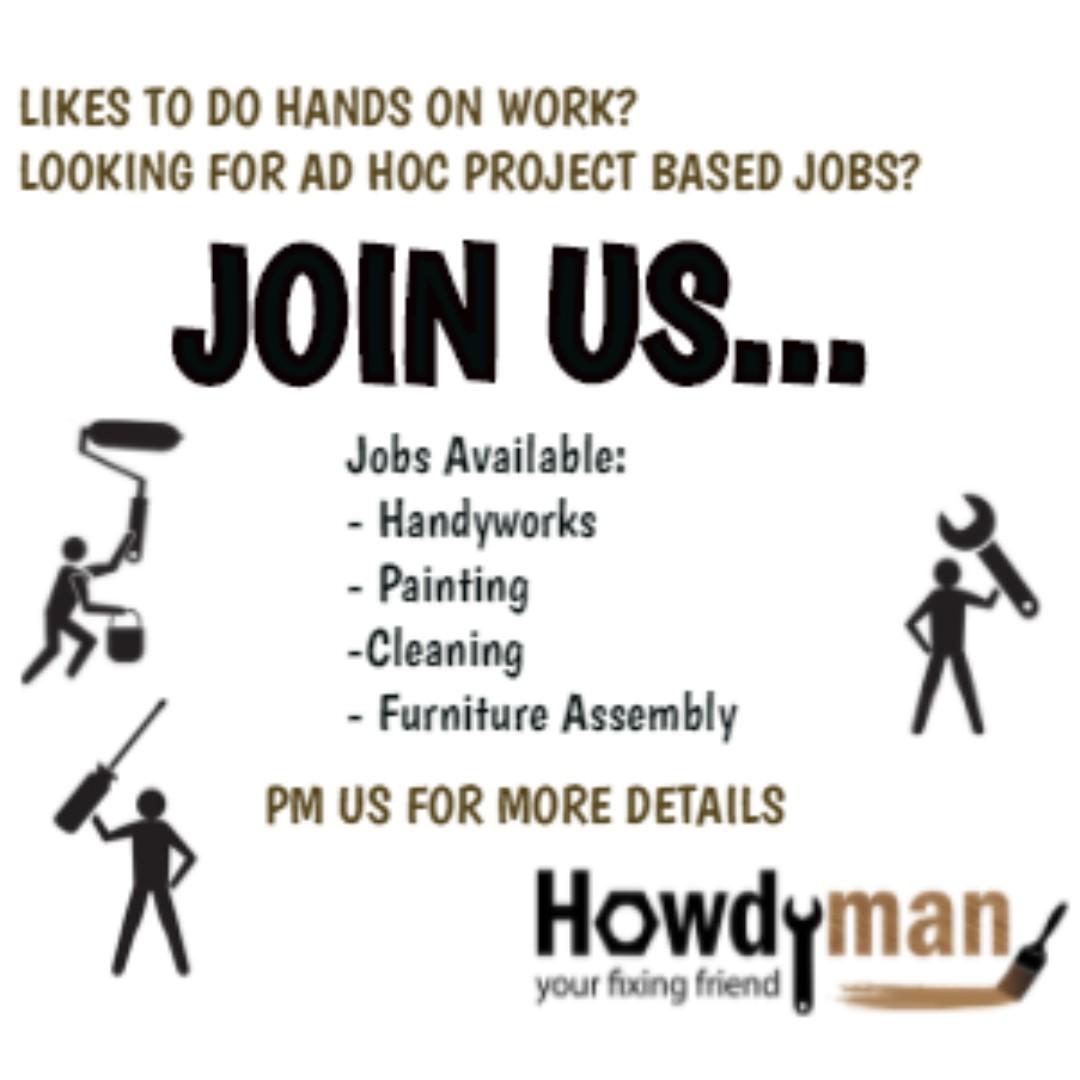 Hiring Handyman, Jobs, Internships & Others on Carousell