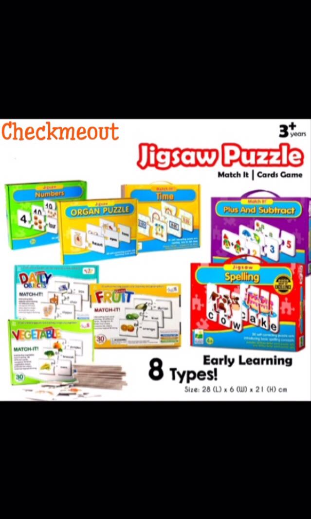 🌈READY STOCK🌈Kids Spelling Game Jingsaw Puzzle