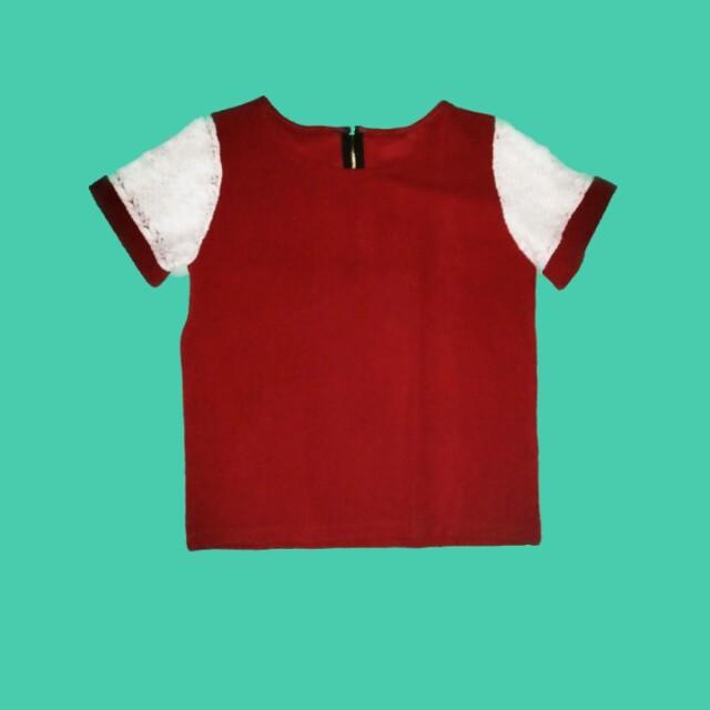 reddish Maroon Zipback blouse