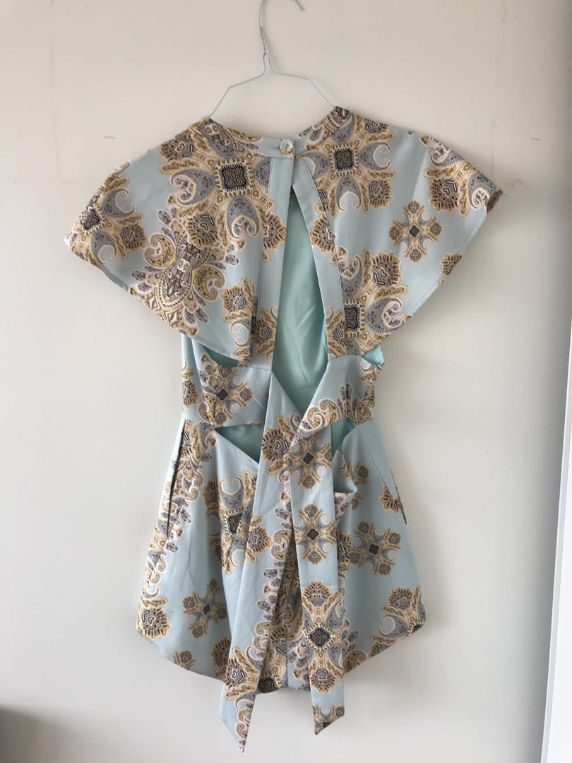 Romper with open back
