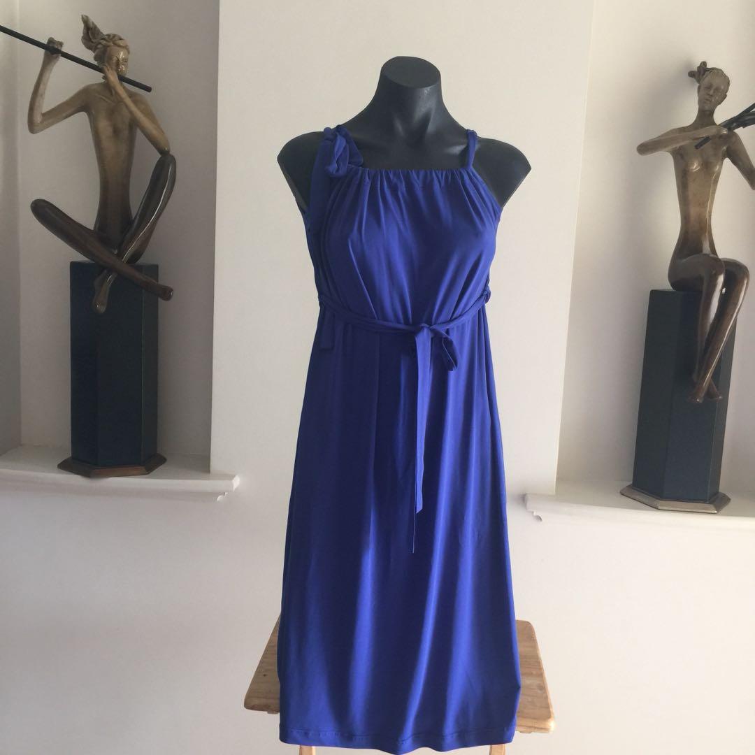 (S) RIPE MATERNITY DRESS BLUE