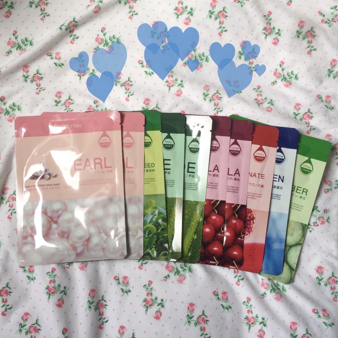 SALE! 10 pcs Authentic Farmstay Korean Essence Face Masks 🌸
