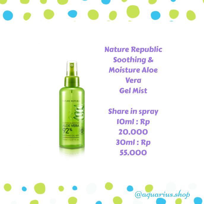 SHARE IN SPRAY Nature Republic Mist
