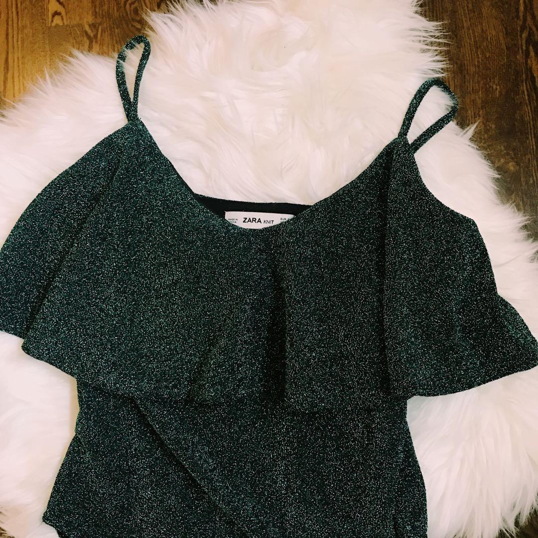 Sparkly Bodysuit From Zara