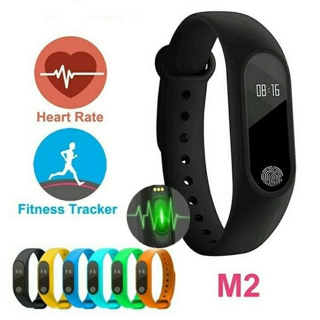 Sport Wrist Band M2 Wrist band, Heart rate Monitor, Bluetooth, App  notification