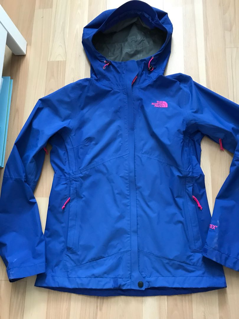 THE NORTH FACE XS BLUE PINK GORTEX JACKET