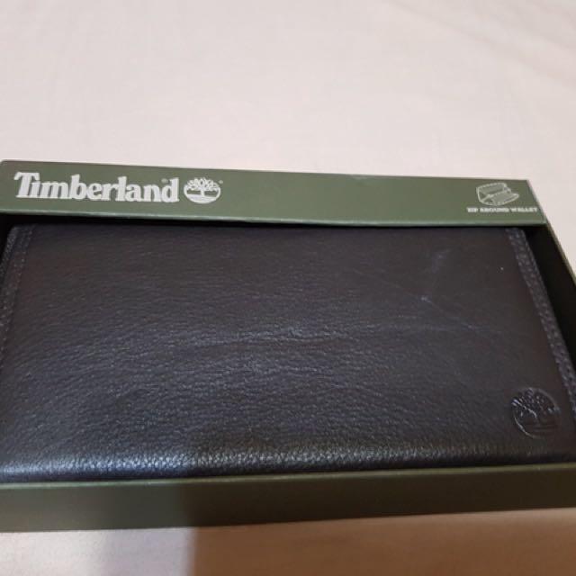 Timberland拉鏈中性長夾/深咖啡色