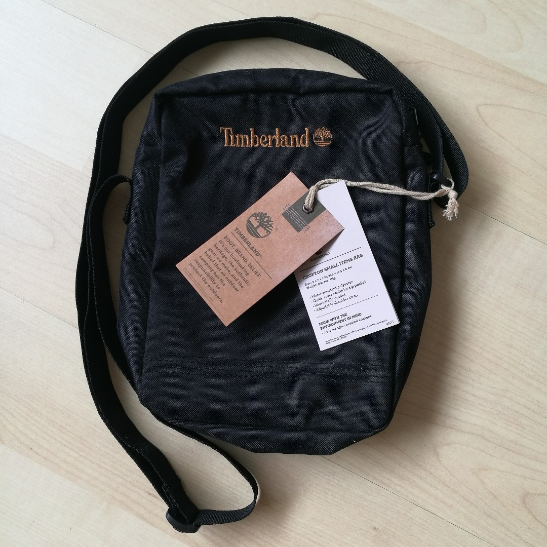 d53814904b Timberland small sling bag, Men's Fashion, Bags & Wallets on Carousell