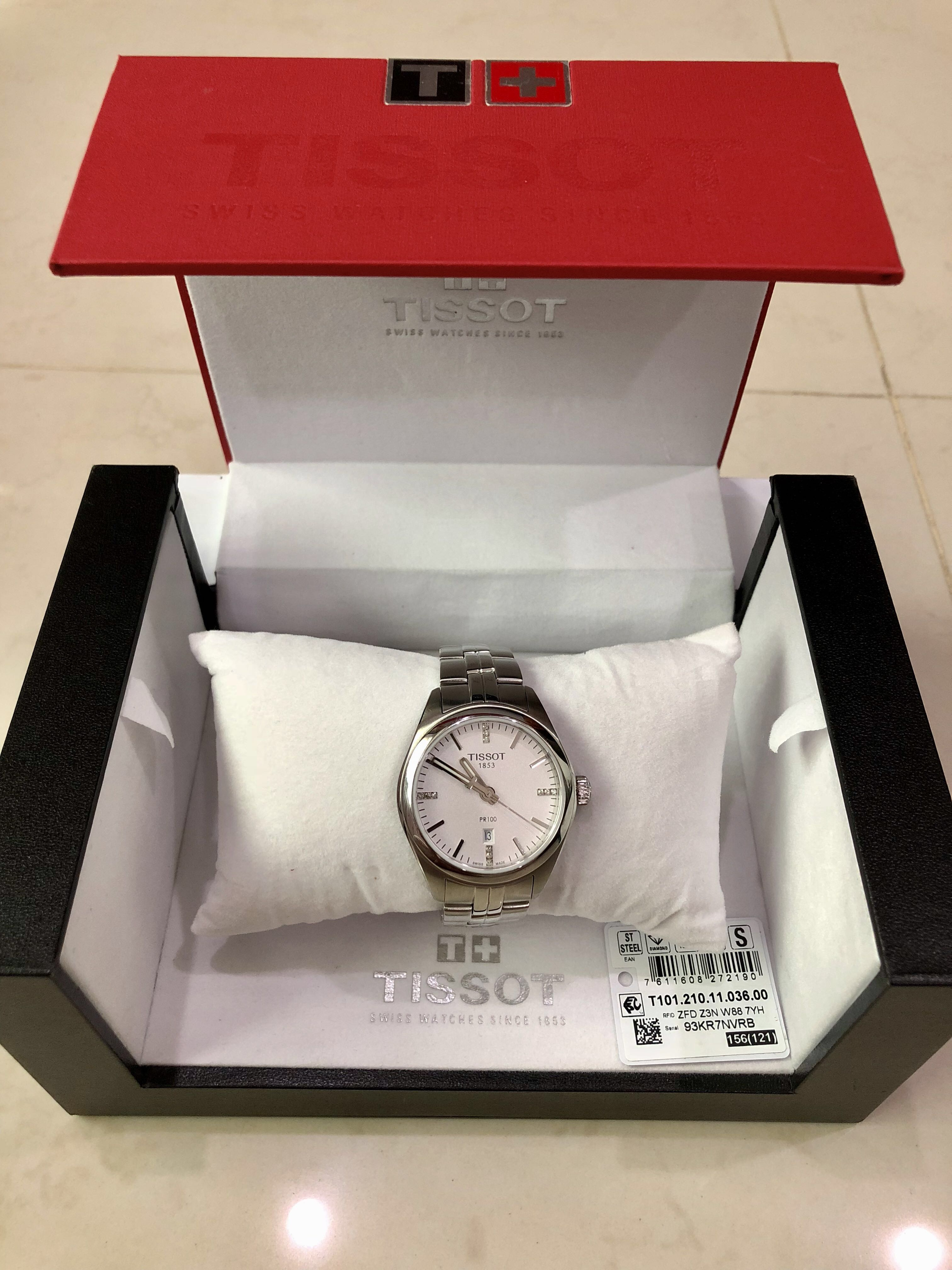 Tissot womens watch with diamonds AUTHENTIC