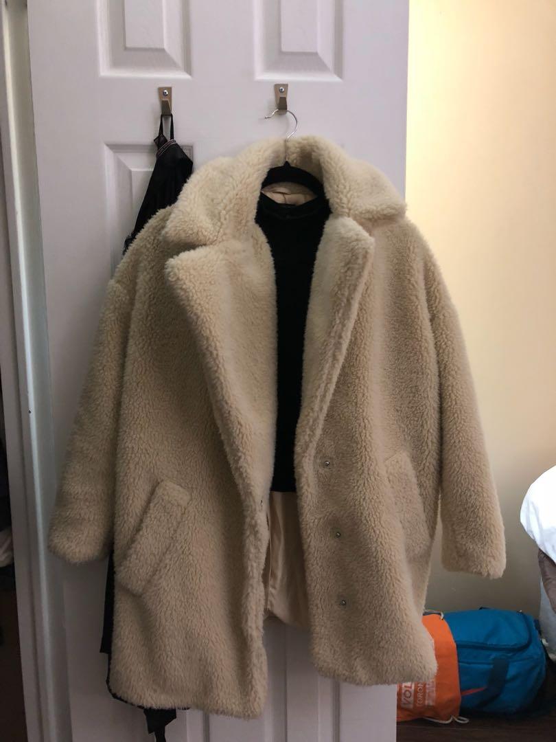 topshop cocoon jacket size 4