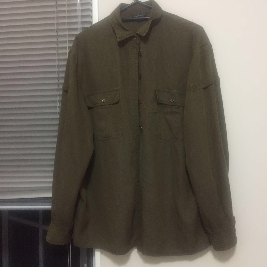 Topshop khaki shirt