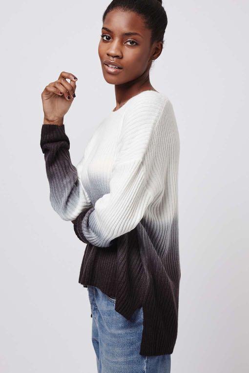 Topshop ombré sweater