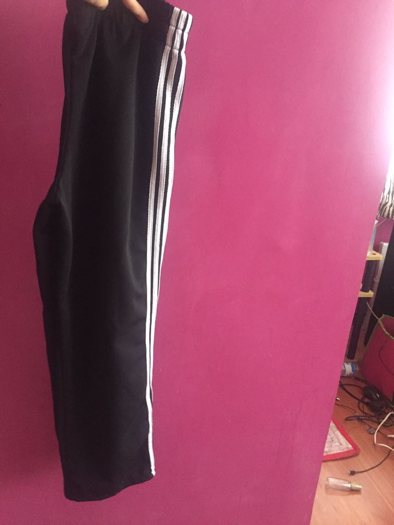 Track pants stripes three black