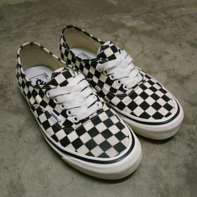 2fbd243717a1 Vans Anaheim Factory Authentic 44 DX Black Checkerboard