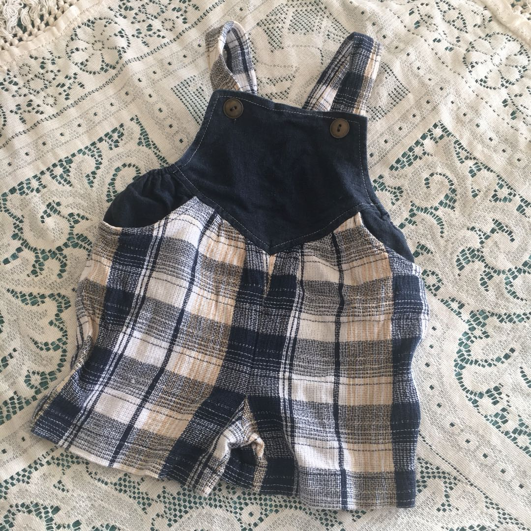 Vintage Baby Checkered Overalls
