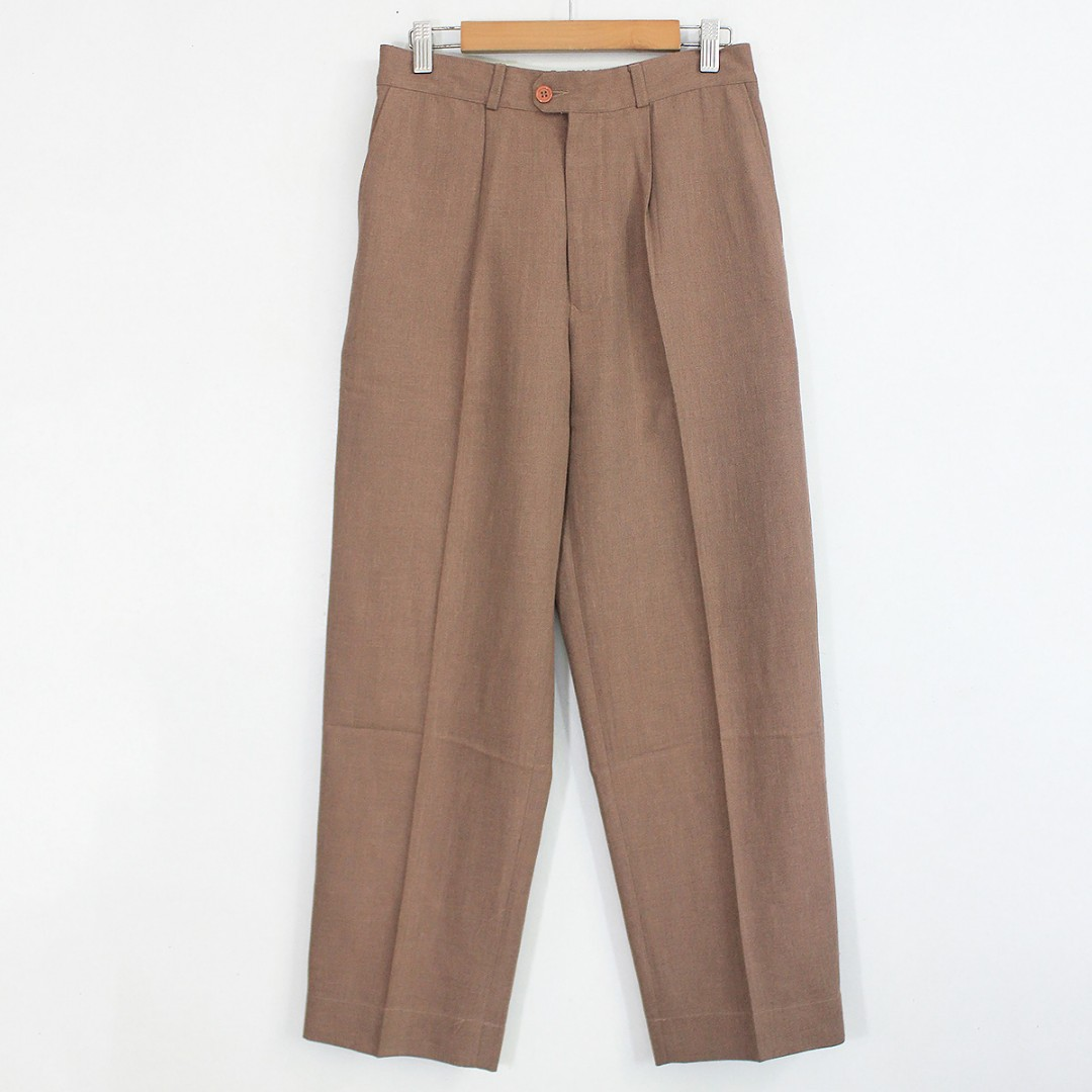 [RESERVED] Vintage Brown High-Waisted Relaxed Straight Cut Ankle Pants