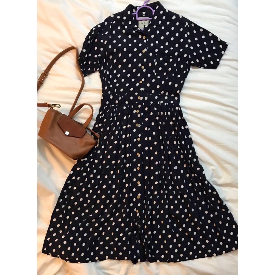Vintage style polkadot dress