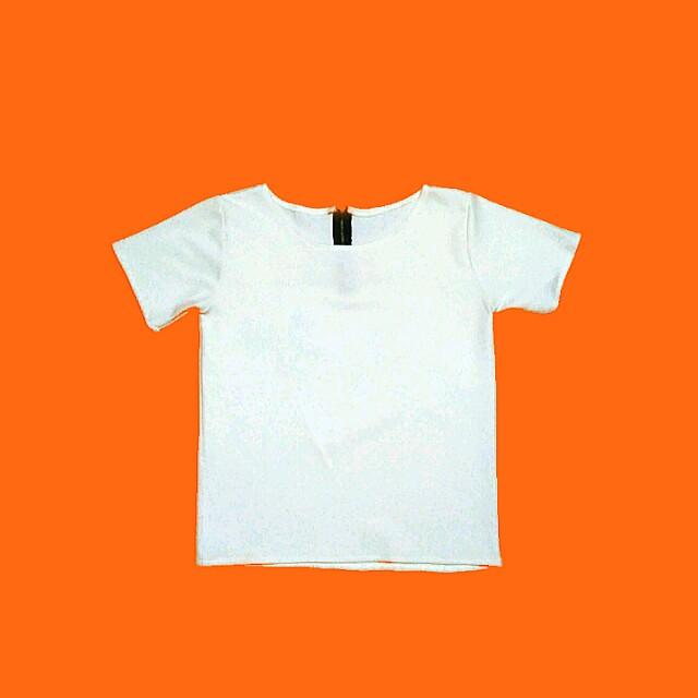 White Zipback Blouse