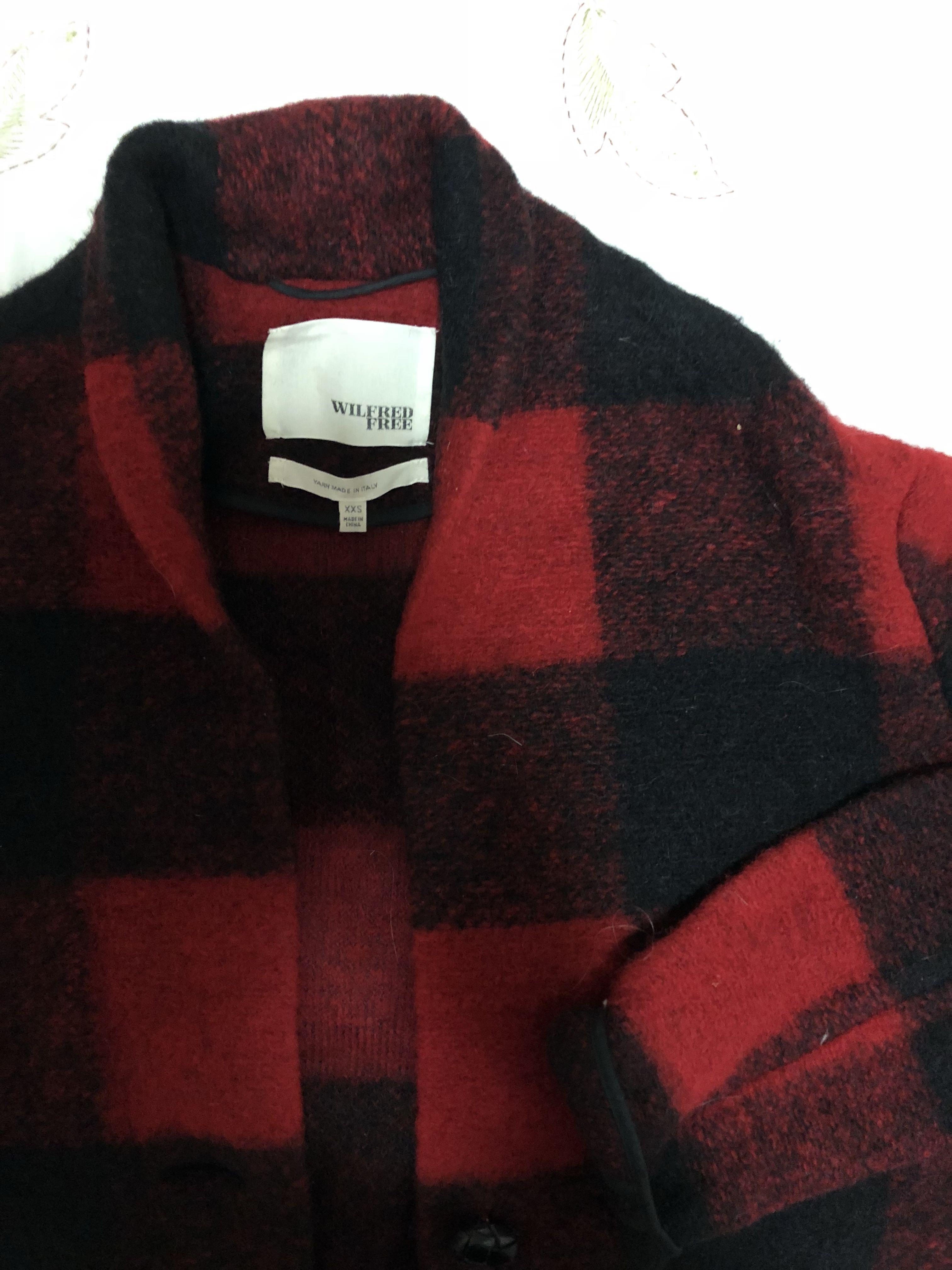 Wilfred Free Plaid Coat XXS