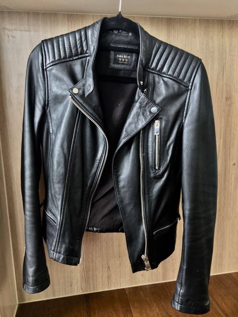 Zara biker Leather Jacket