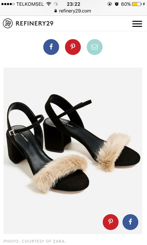 Zara Fur Sandal low heels