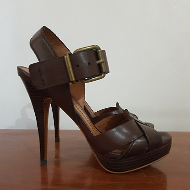 ZARA GENUINE LEATHER HEELS SIZE38