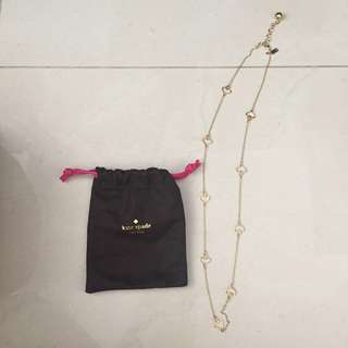 Kate Spade logo gold necklace 金色頸鏈