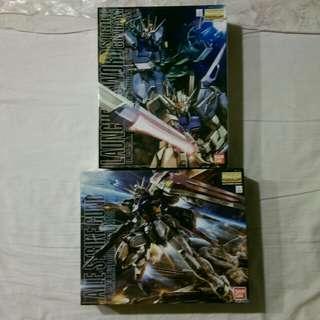 (兩盒一起賣) MG 翔翼型攻擊鋼彈 + MG 巨劍型/巨砲型攻擊鋼彈