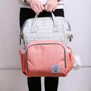 Tas Anello Diaper Bag Baby Bayi Peach Pink Grey