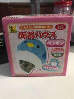 Wild Dwarf Hamster Ceramic Penguin Animal House Hide Out