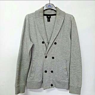 H&M雲灰男裝外套