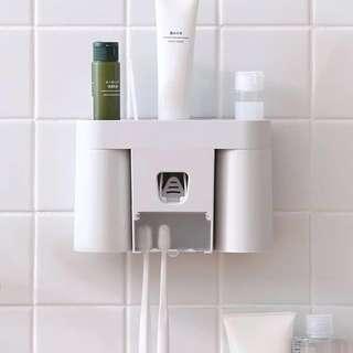 牙刷架 收納 浴室 雙人 置物架 #灰白色 #北歐