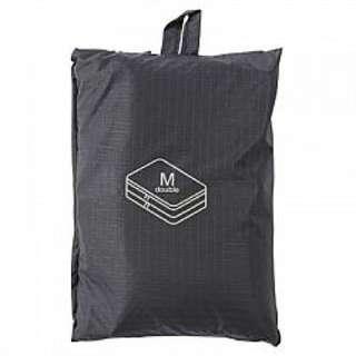 全新 MUJI 無印良品 滑翔傘布旅行分類可折收納袋 中雙層 黑色 日本購回