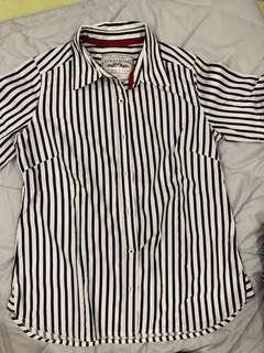 Logo stripes shirt (pendek)