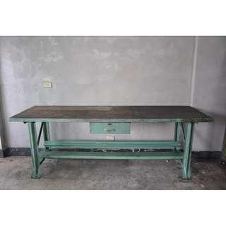 //ORI DECO 工業風老件// 美國經典綠色 鴨腳工作桌 長桌 8尺