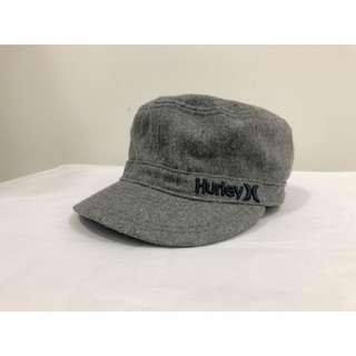 美國🇺🇸Hurley混羊毛灰色軍帽 老帽