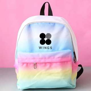 BTS rainbow school bag