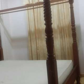 Queen size bed dari kayu jati