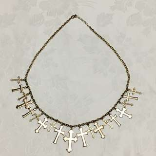 Forever 21 Gold Cross Necklace
