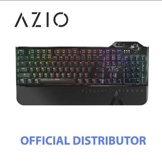 STOCKS AVAILABLE - AZIO MGK1 L80 RGB BROWN SWITCH MECHANICAL KEYBOARD