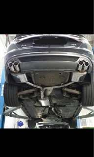 Audi A4 jetex exhaust with cert and diffuser.