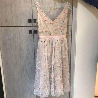 花瓣長洋裝